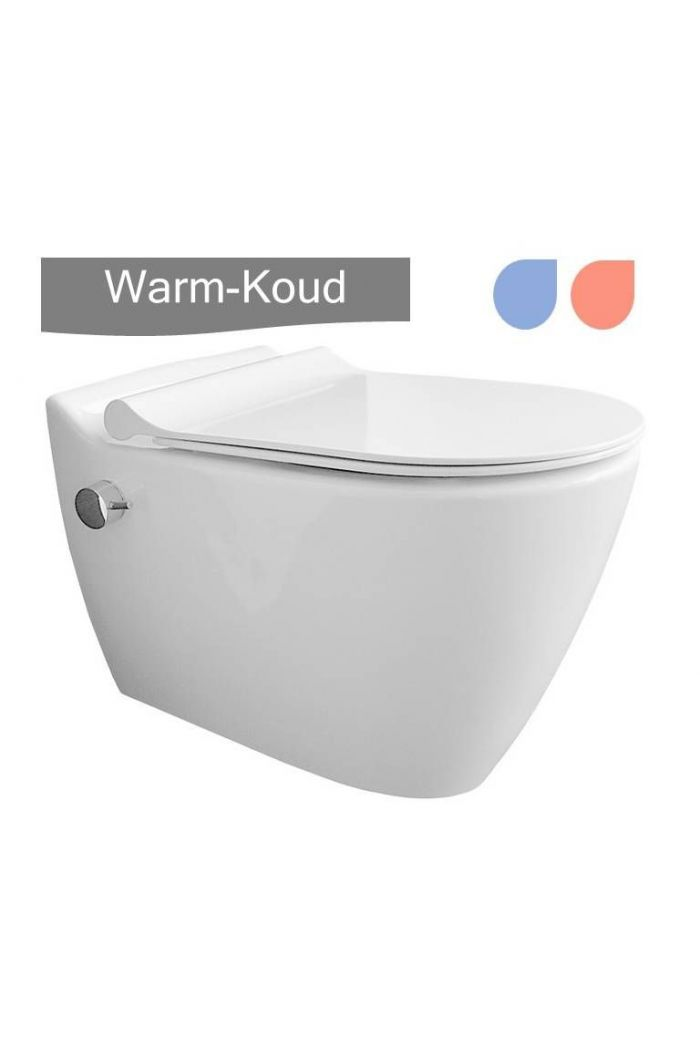 Design Turks Toilet RIM Free met warm water